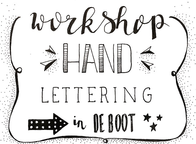 10 november Workshop Handlettering